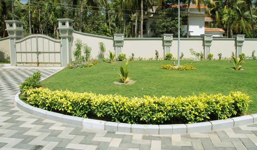Garden design kerala home design for Latest garden design